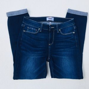 Paige Jeans Kylie Crop 28 Dark Blue Rolled cuff